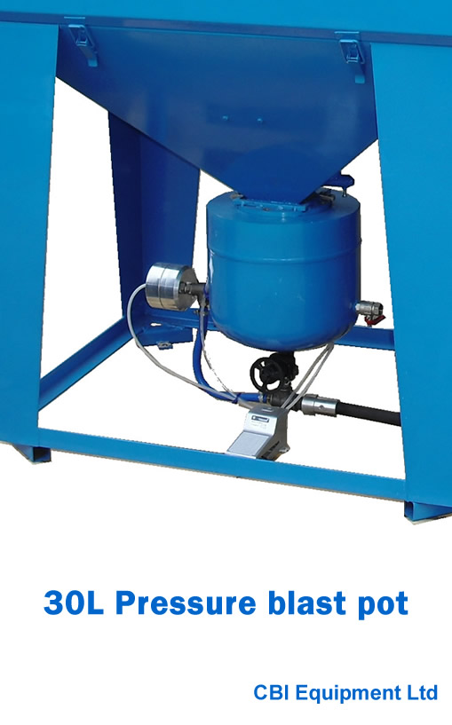30L pressure blast pot UK supplier- slide 1