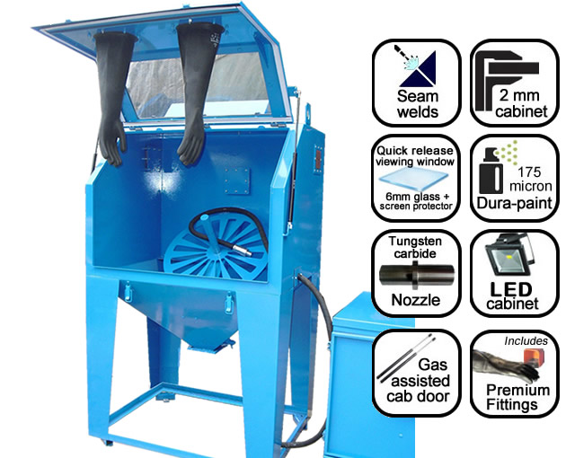AB1000W wheel blast suction cabinet
