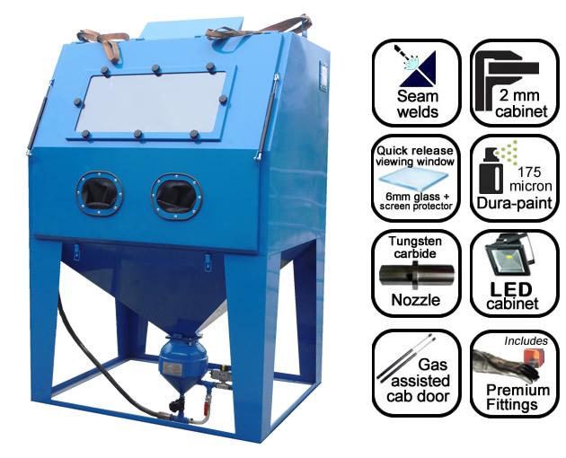 AB1250 1.25m pressure blast cabinet