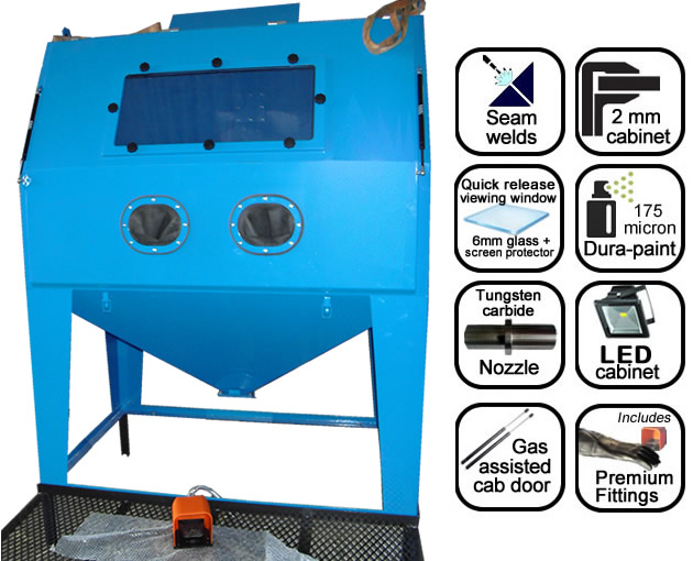 AB1500 1.5m suction blast cabinet