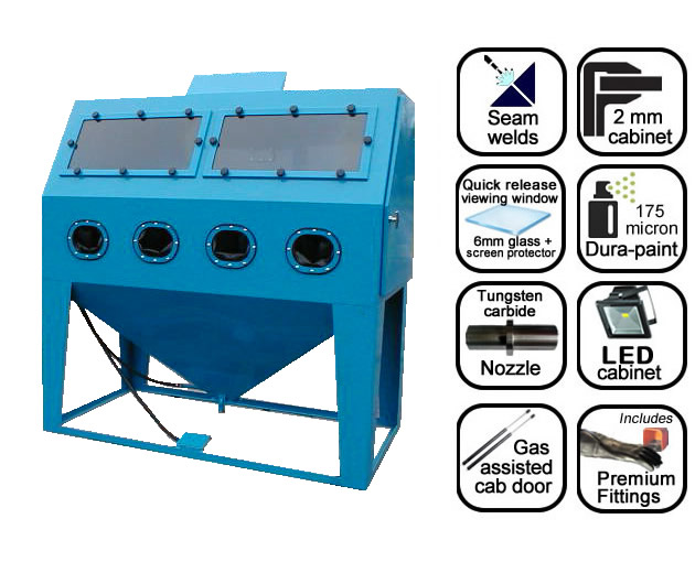 AB1500 1.8m suction blast cabinet