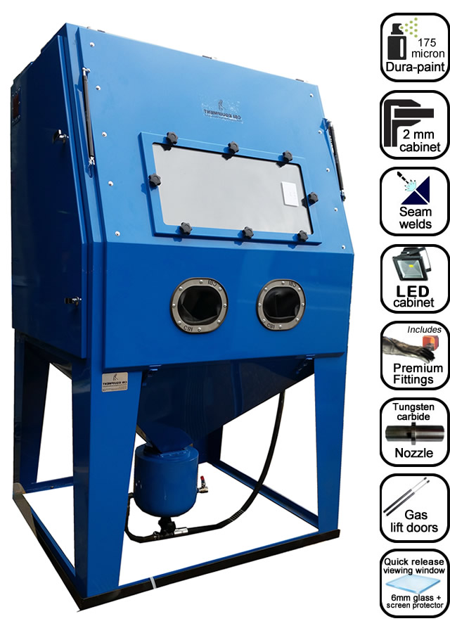 AB1250 extra tall blast cabinet list of features