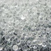 Glass bead guide for shot blasting machines