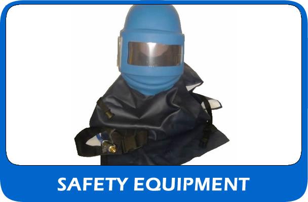 Shot blasting hemets and safety equipment