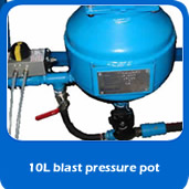 slide blastpot 10L pressure blast pot for cabinet