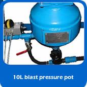 slide blastpot 10L pressure blast pot for cabinet