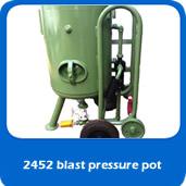 slide blastpot 2452 pressure blast pot for cabinet