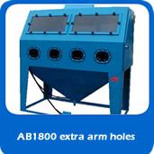 slide custom blast cabinet with extra armholes
