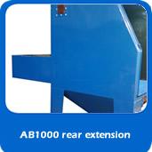 slide custom blast cabinet with rear extension bay