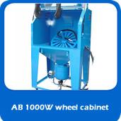 slide pressure AB1000W 1m pressure blast allow wheel cabinet