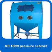 slide pressure AB1800 pressure 1.8m blast cabinet