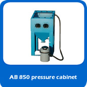 slide pressure AB850 850mm pressure blast cabinet