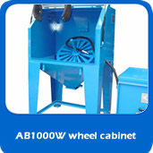 Suction AB1000w suction cabinet 1m allow wheel blasting cabinet