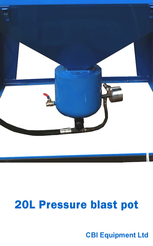 20L pressure blast pot UK supplier