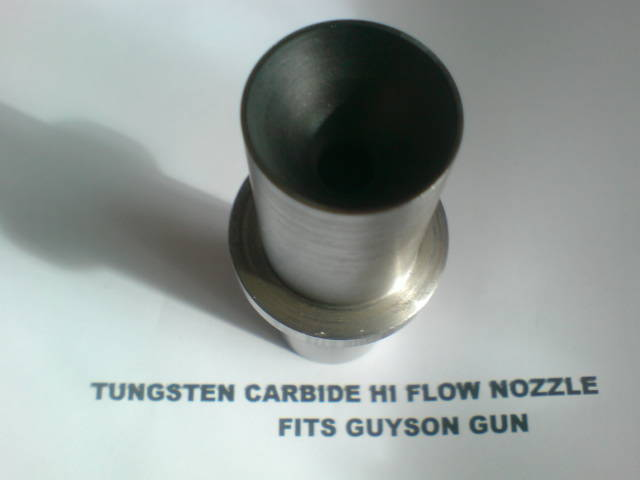 Tungsten carbide hi flow nozzle bottom view