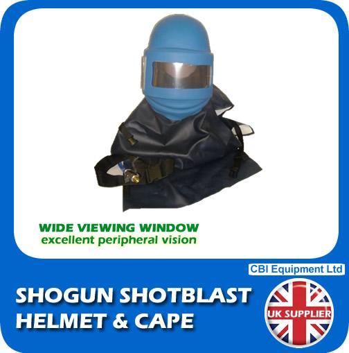 shogun helmet and cape slide shot blast safety equipment