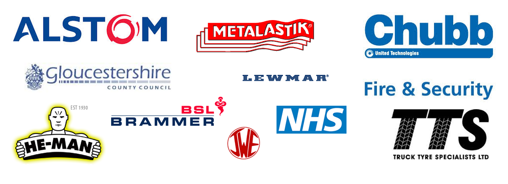 Customers of CBI-Equipment: Dunlop Metalastik, Alstom Train Services, Chubb Fire Security, Heman Dual, controls, BSL Bearings, Gloucester County Council. HM Prison Camp Hill, Lewmar Marine, Truck & Tyre Specialist, Jacquet Western Plant