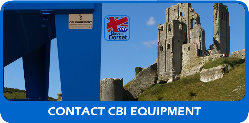 Contact CBI Equipment UK shot blasting supplier of blast machines