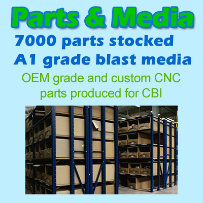 Parts and spares for shot blasting machines from CBI equipment