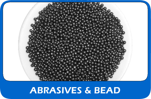 View our range of new shot blasting abraisives and bead or grit