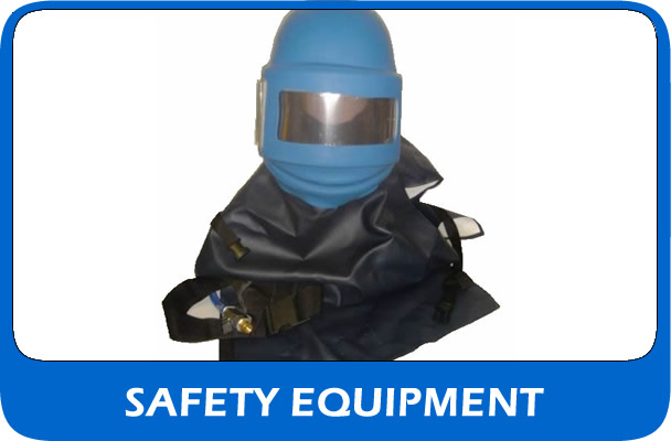 Shot blasting hemets and safety equipment
