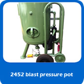 slide blastpot 2452 pressure blast pot for cabinet