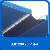 slide custom blast cabinet roof slot