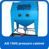 slide pressure AB1500 1.5m pressure blast cabinet